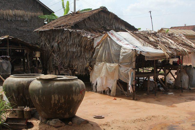 An average Cambodian village home. [Immage courtesy of unicefcambodia.blogspot.com]