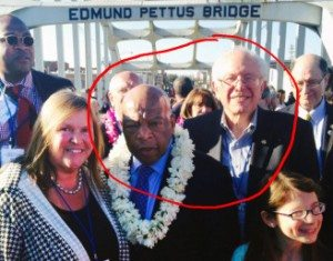 Proof that Lewis has met Sanders and was aware of his Civil Rights activity.
