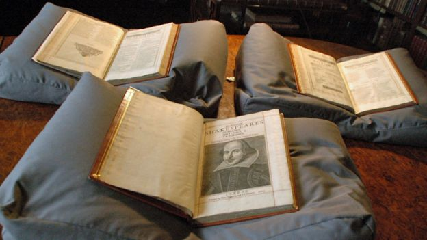 The three volumes of First Folio that were discovered. (PHOTO: copyrightMount Stuart House)