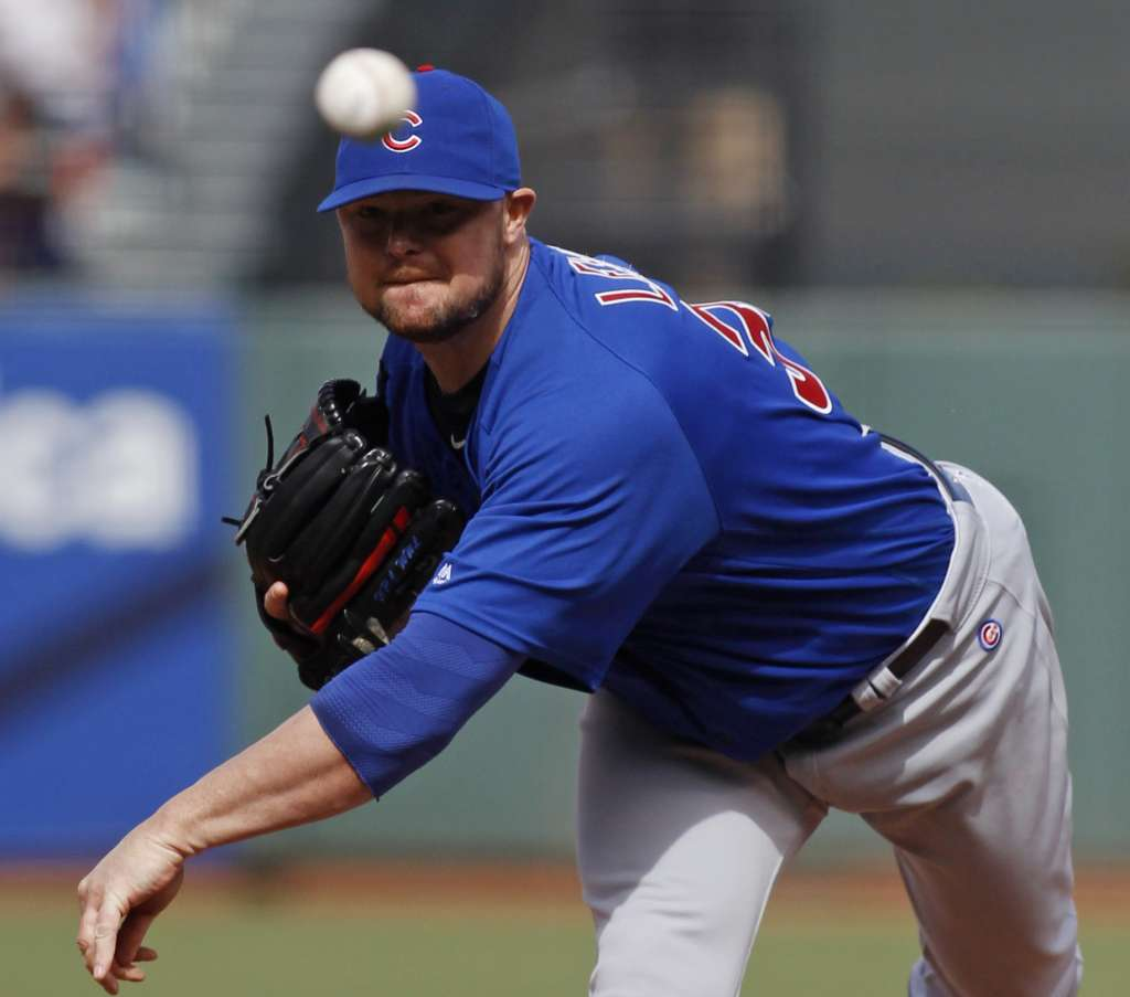 Jon Lester during his May 21st outing against the Pirates, greenwichtime.com