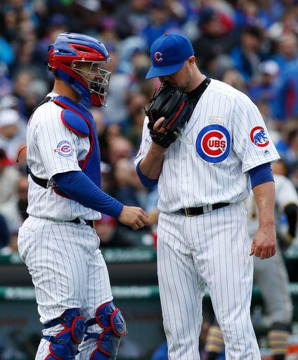 David Ross (Left) and Jon Lester (Right) May 15, 2016, fox28.com