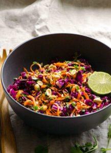 Sweet Potato Noodle Salad with Lime & Peanuts
